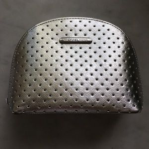 Silver Micheal Kors Make Up Bag Clutch New